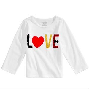 First Impressions LOVE Long Sleeve T Shirt NWT